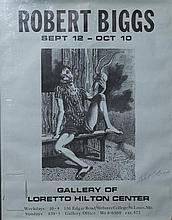 Robert O. Biggs, American (1920-1984), Signed exhibition poster from the Gallery of Loretto Hilton Center, unframed.