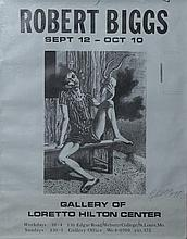 Robert O. Biggs, American (1920-1984), Signed exhibition poster from teh Gallery of the Loretto Hilton Center