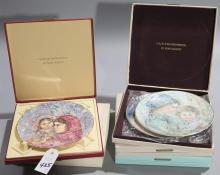 Five limited edition Royal Doulton plates in original boxes
