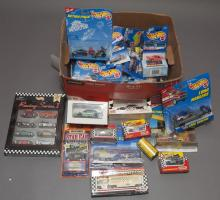 Collection of assorted Match Box and Hot Wheels cars in original packages