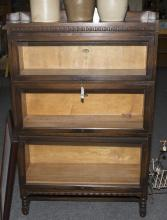 Lawyer''s stack bookcase with original label stamped Macey - Canada Furniture Manufacturer''s Limited - height: 54 inches, length: 34..