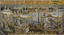 Barnum & Bailey: The Only Show with 7 Open Dens of Trained Wild Beasts, ca. 1890 Strobridge