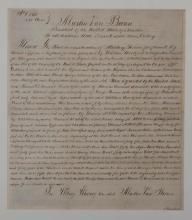 Martin Van Buren, 8th President of The United States, Land Grant