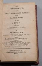 Ben Gorion, Josephus: The Wonderful and Most Deplorable History of the Latter Times of the Jews; With the Destruction of the City of...