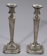 James Dixon & Sons, Sheffield, Pair of Sterling Silver Candlesticks