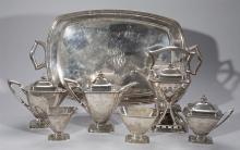 Towle Sterling Silver Tea/Coffee Service with Tray, MARY CHILTON pattern