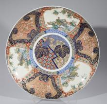 Large Japanese Arita Porcelain Charger