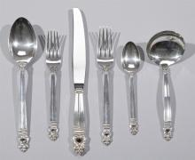 International Silver sterling flatware ROYAL DANISH pattern