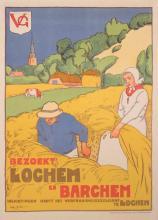 Willy Sluiter, Dutch (1873-1949), Bezoekt Lochem en Barchem, color lithographic poster, published by Drukkerij Senefelder, Amsterdam...