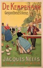 Henri Cassiers, Belgian (1858-1944), Elixir de Kempenaar Gezondheidslikeur, color lithographic poster, 32 x 20 inches