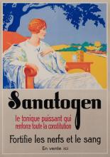 E. Toussaint, French, Sanatogen, color lithographic poster, 20 1/2 x 14 1/2 inches