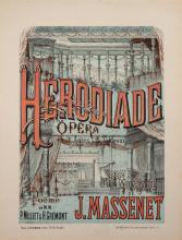 Charles Levy (Publisher), Paris, Herodiade Opera, Musique de J. Massenet, color lithographic poster, 28 x 21 1/2 inches