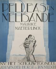Henry van de Velde, Belgian (1853-1967), Pelleas et Melisande, with Maurice Maeterlinck, color lithographic poster, 35 x 29 inches