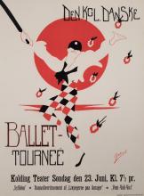Gabriel, 20th century, Den KGL Danske, Ballet Tournee, 1917, color lithographic poster, 33 x 25 inches
