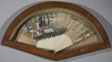 Continental School, 19th Century Hand Painted Fan