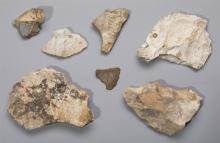 Lot 1 box 2: Pre paleo neolithic stone puppets (7 pieces)