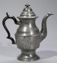 American Antique Pewter Lighthouse Tall Coffeepot