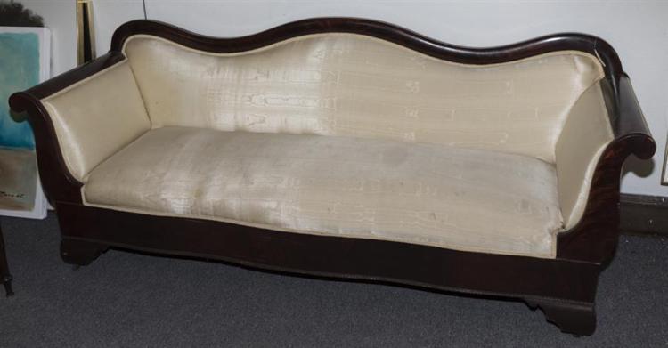American Empire Sofa With Crotch Grain Mahogany Veneer Len