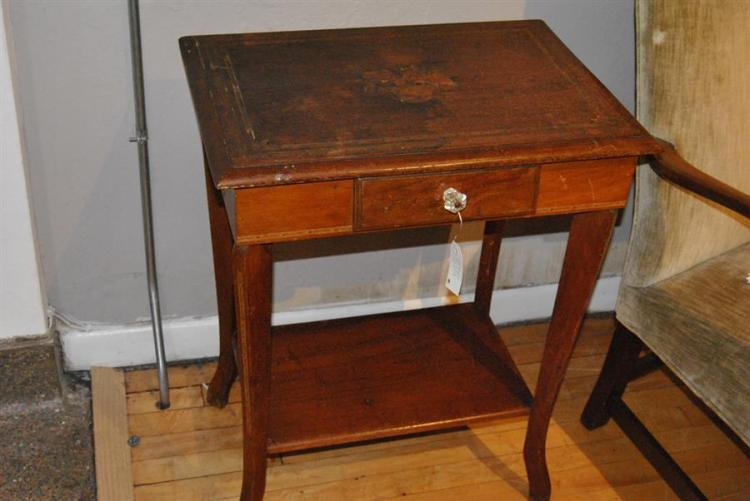 Early 20th century single drawer two tiered side table with for Table th link