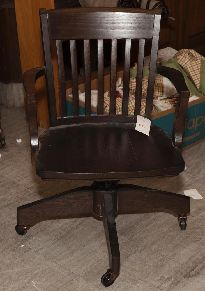 Arts and crafts style office chair for Craftsman style office