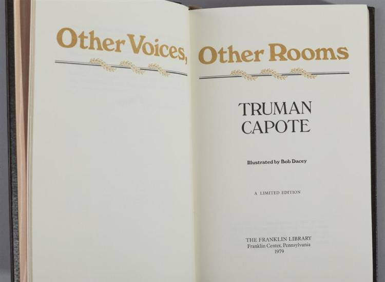 Capote, Truman: Other Voices, Other Rooms; Franklin Library,