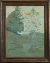 Edmund Wuerpel, American (1866-1958), Tonalist landscape, oil on canvas laid down, 23 x 17 1/2 inches