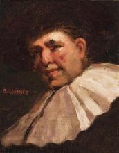 Paul E. Harney, Jr., American (1850-1915), Cavalier, circa 1900, oil on canvas board,
