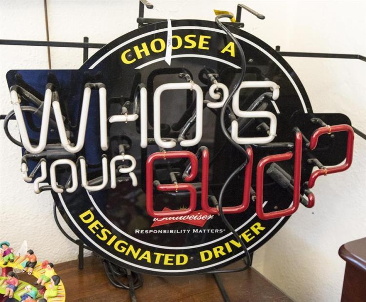Vintage Budweiser neon sign,