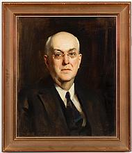 John Young Hunter, American (1874-1955), Portrait George Heye (Heye Foundation), 1940, oil on canvas, repairs to canvas, 24 x 20 inc...