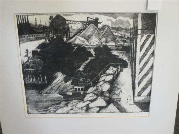 S. Doi, 20th century, Quarry, etching, 11 x 13 1/2 inches