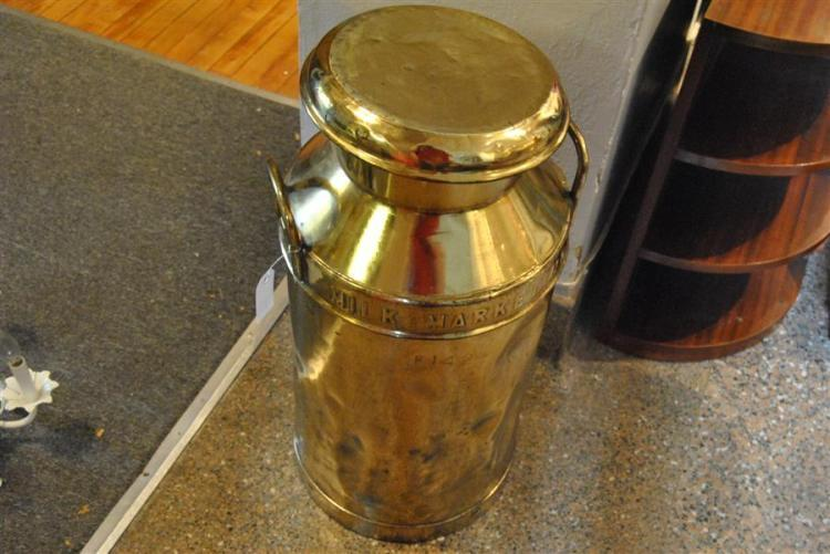 Decorative milk cannister stamped Milk Marketing, with two handles