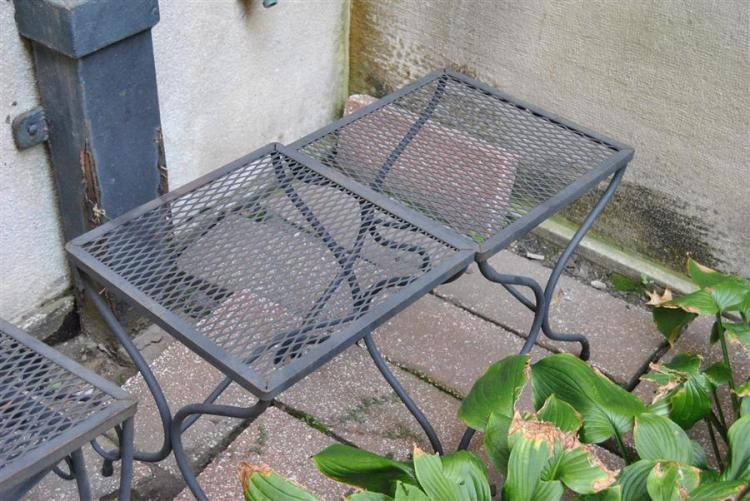 Pair of small wrought iron side table