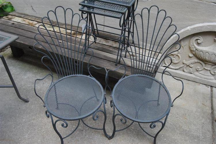 Pair of wrought iron