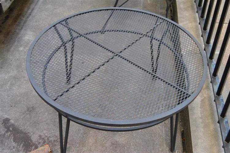 Wrought iron circular coffee table