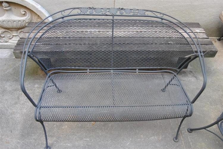 Wrought iron settee