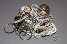 Large bag of assorted costume jewelry