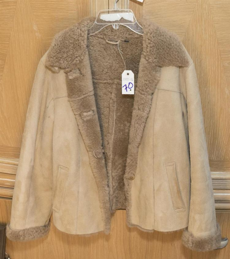 Ladies wool lined waist length suede jacket by Isabella Bird, size 8