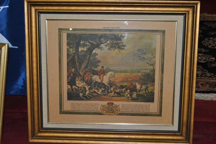 Print of an English hunting scene