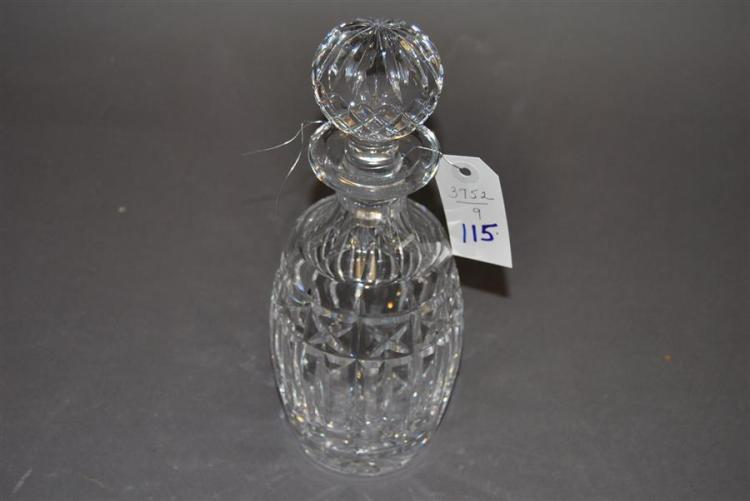 Waterford crystal decanter with stopper, h: 10 1/2 in