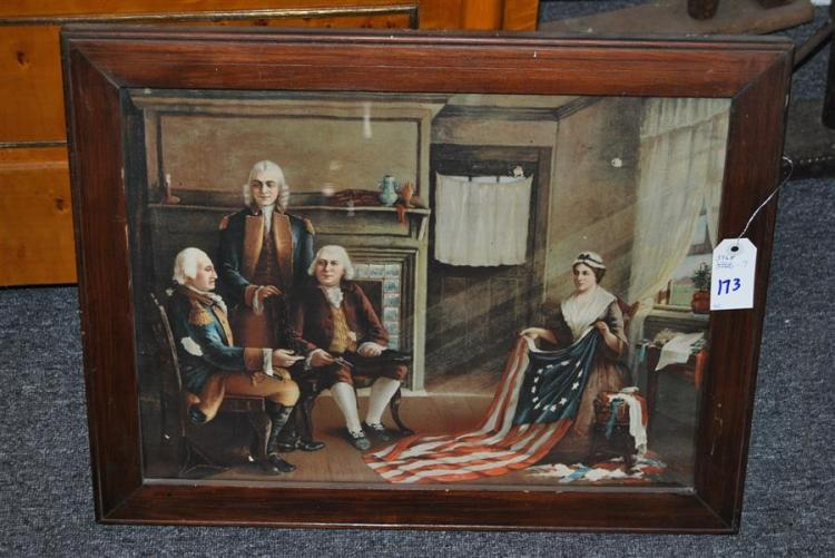 Framed print after Charles Weisgerber's painting