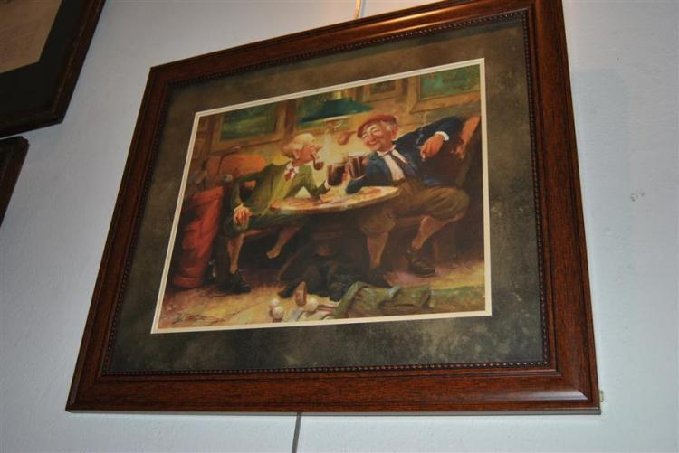 Two framed prints, one titled,