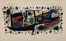 Joan Miro, Spanish (1893-1983), STAR SCENE, color lithograph, signed in plate, 13 x 20 1/2 (sight)