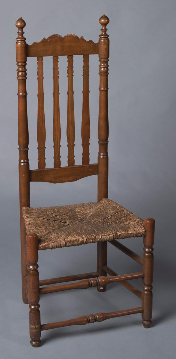 William and Mary Period banister back side chair