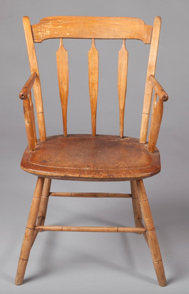 Antique Pennsylvania Thumb back Windsor Armchair