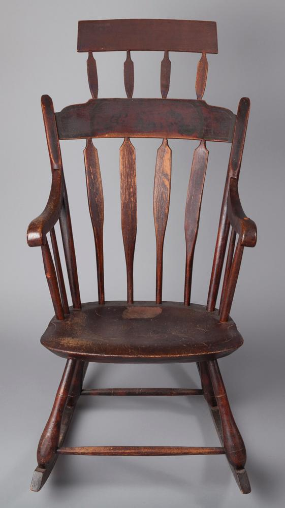 Early 19th Century American Comb Back Rocking Chair