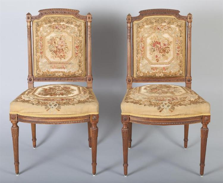 Four French Louis XVI Side Chairs