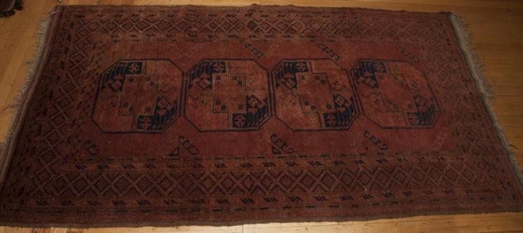 Antique Ersari Throw Rug