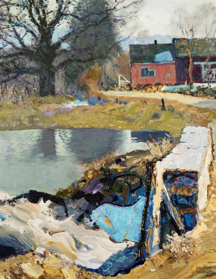 Coulton Waugh, American (1896-1973), Flooding of the Spring, 1963, oil on canvas, 27 x 21 1/2 inches