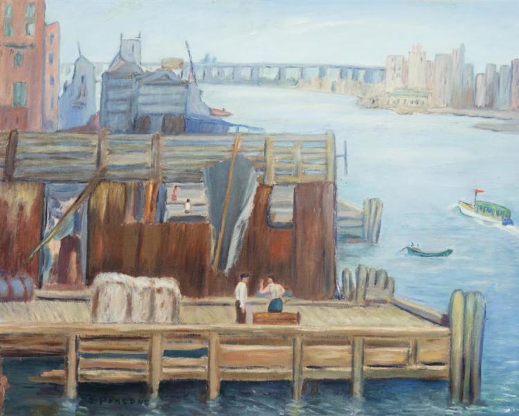 Ernestine Parsons, American (1884-1967), River Scene, oil on canvas, 24 x 29 inches