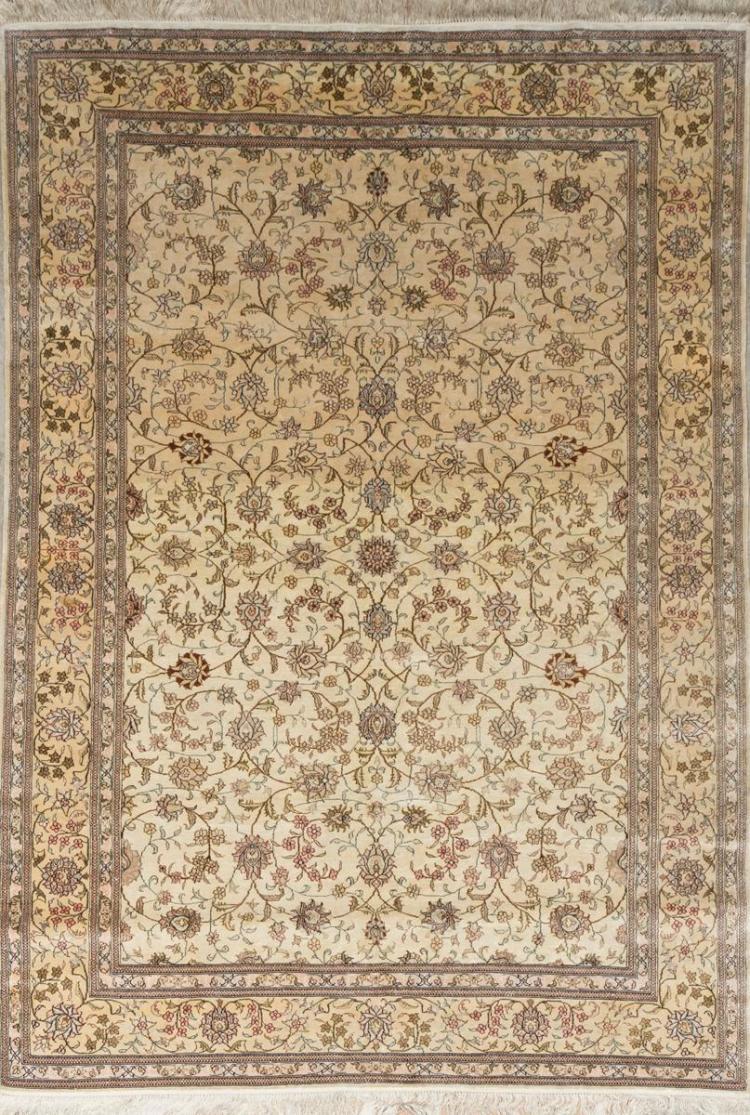 Handwoven Persian Silk Area Rug